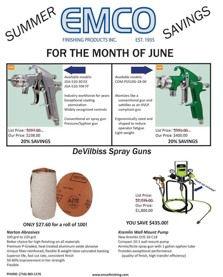 Summer Savings | EMCO Finishing